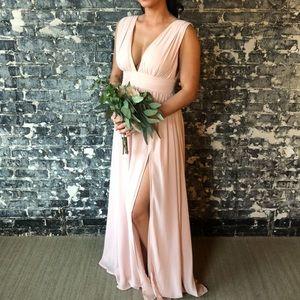 Lulus Heavenly Hues Maxi Gown Blush